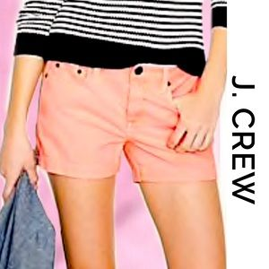 J.Crew Neon Orange Denim Shorts 27